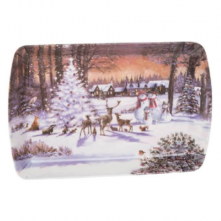 Macneil Winter Scene Small Tray